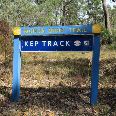 Kep Track and Munda Biddi Trail over lap for 7 km