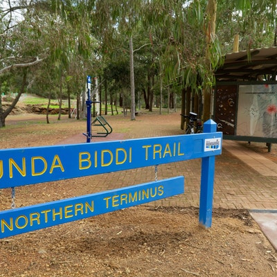 Munda Biddi Trail head in Mundaring Sculpture Park