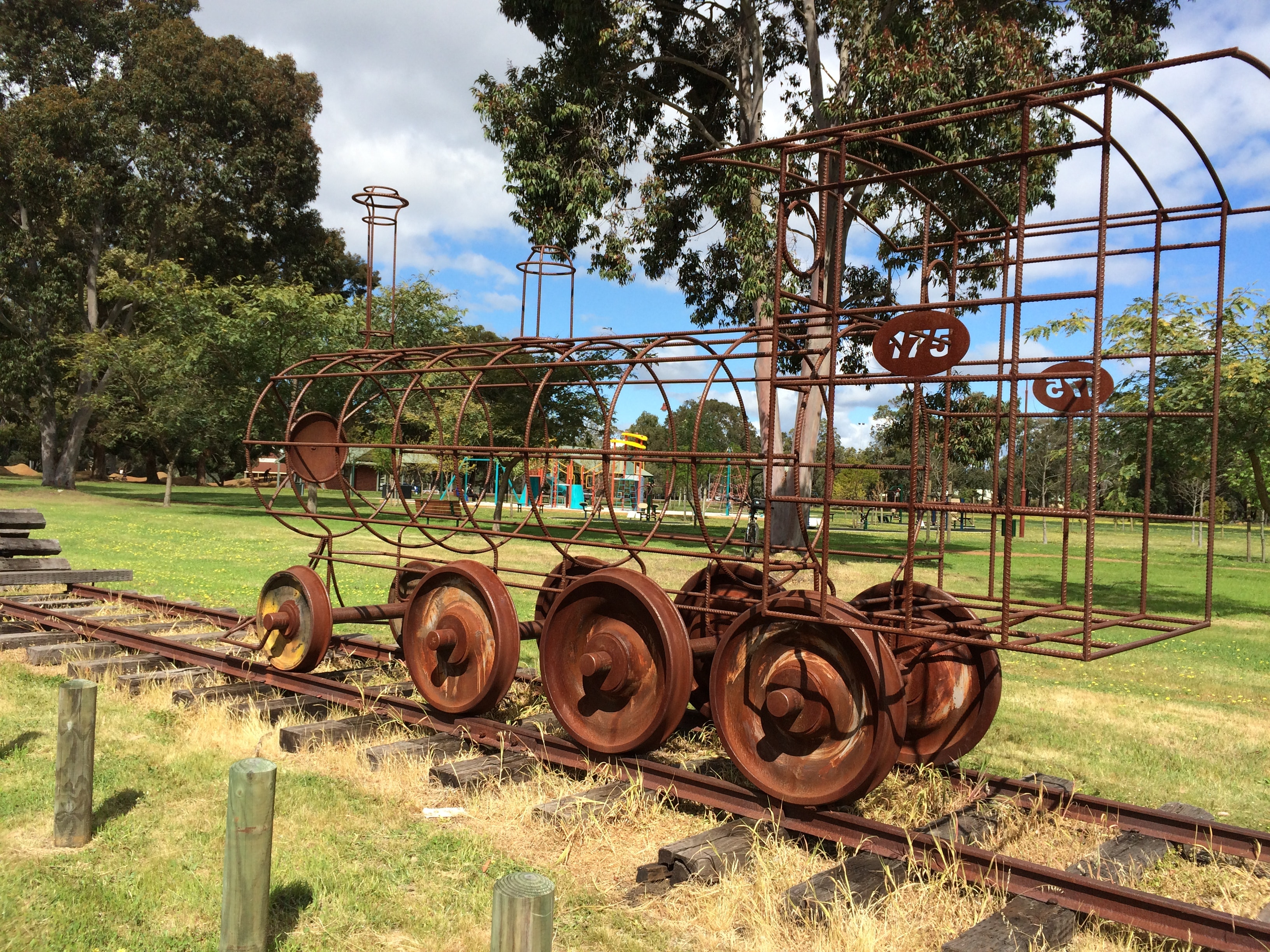 Train sculpture Chidlow
