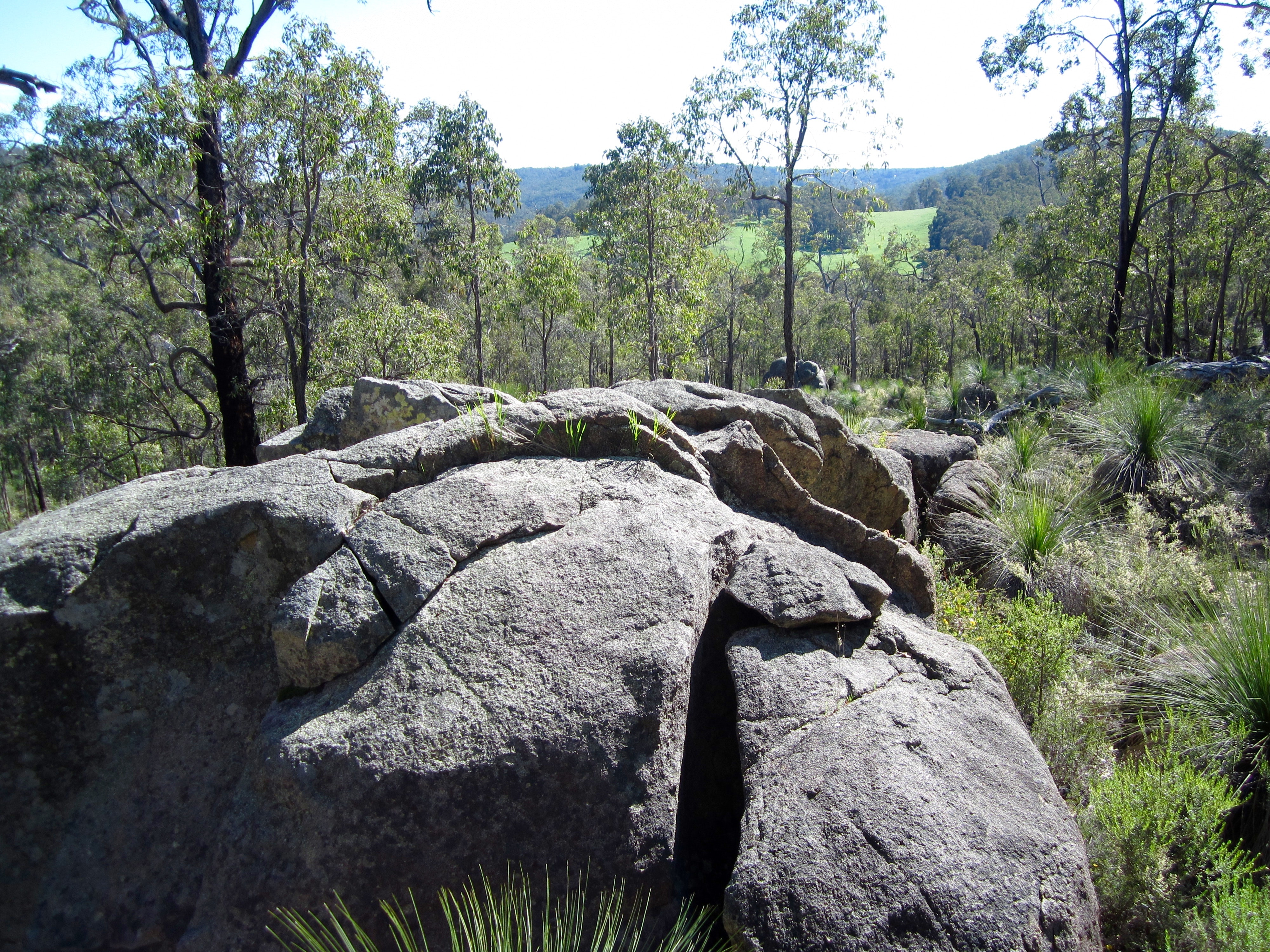 Boulder and view near Helena River
