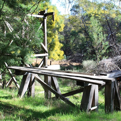 Near Jarrahdale Mill shed