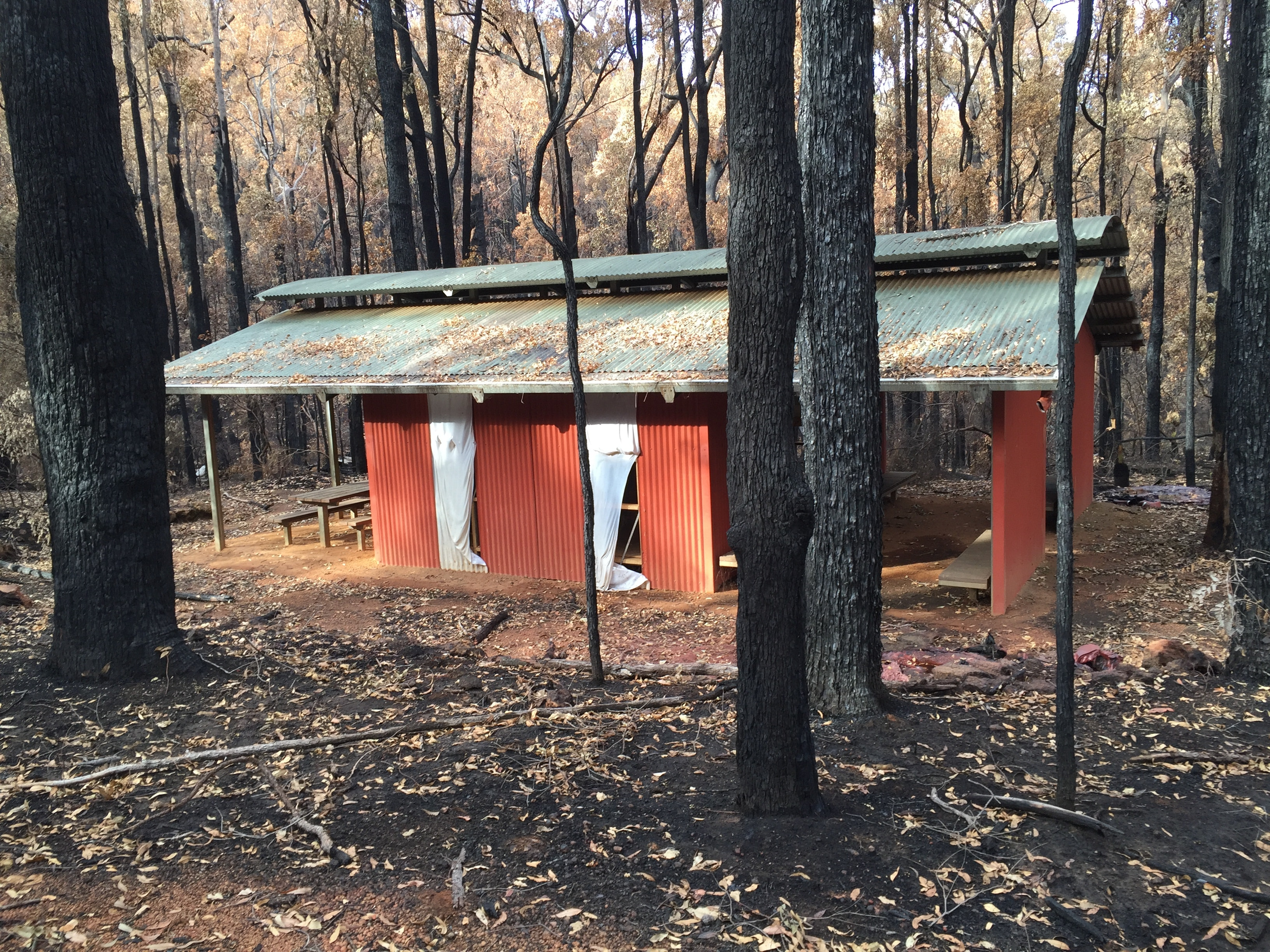 Bidjar hut after Jan 2016 fire