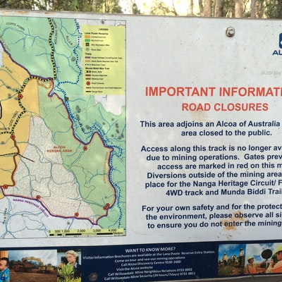 Diversion Map near Bidjar hut - detailed