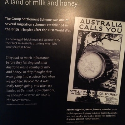 Group Settlement Scheme Poster - National Museum Canberra
