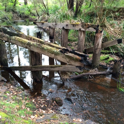 Old rail bridge, Boorara Creek