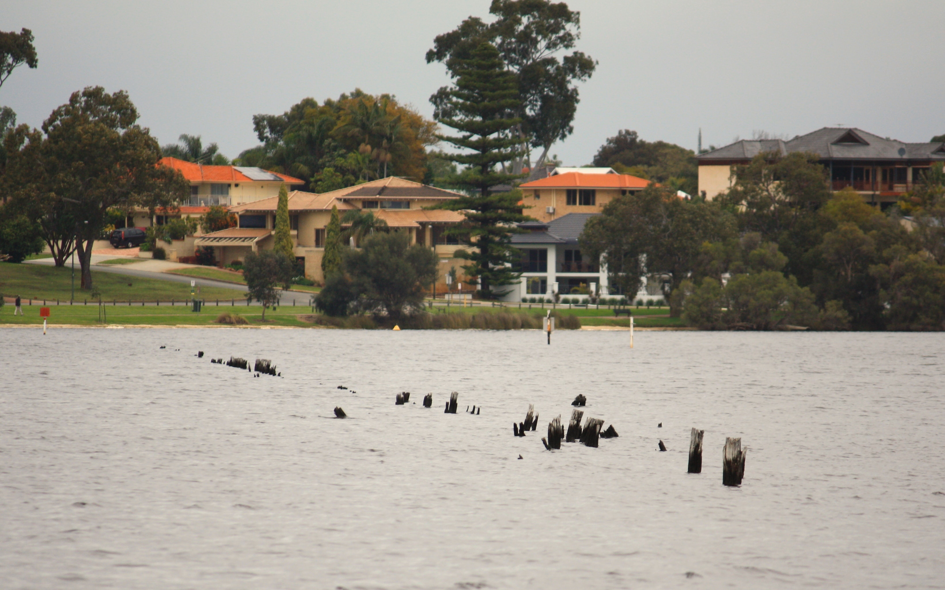 Convict fence in Swan River
