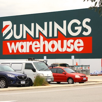 A modern Bunnings Hardware Warehouse