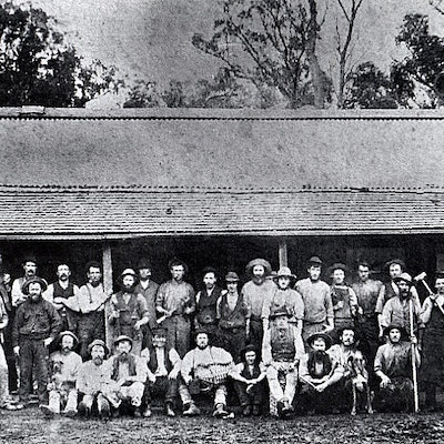 Whites Mill workers Mt Helena 1885