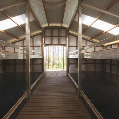 Full size hut sleeping area - Jinung Hut