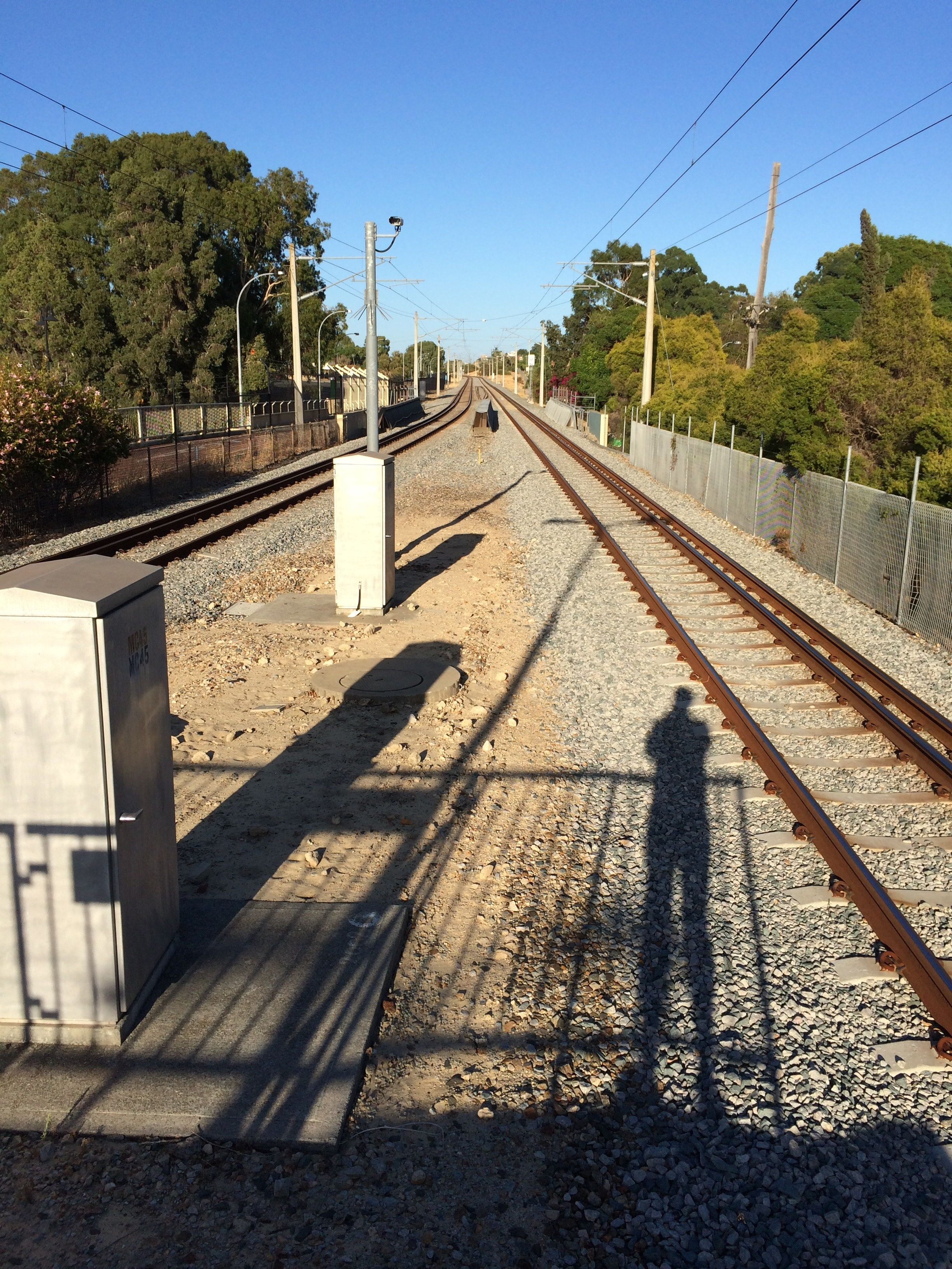 Waiting for a Perth Train