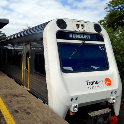 Australind Train to Bunbury, gateway to the South West