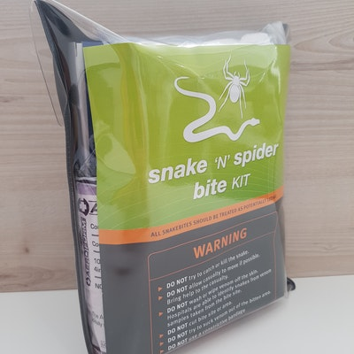 Snake and spider bite kits available in our shop