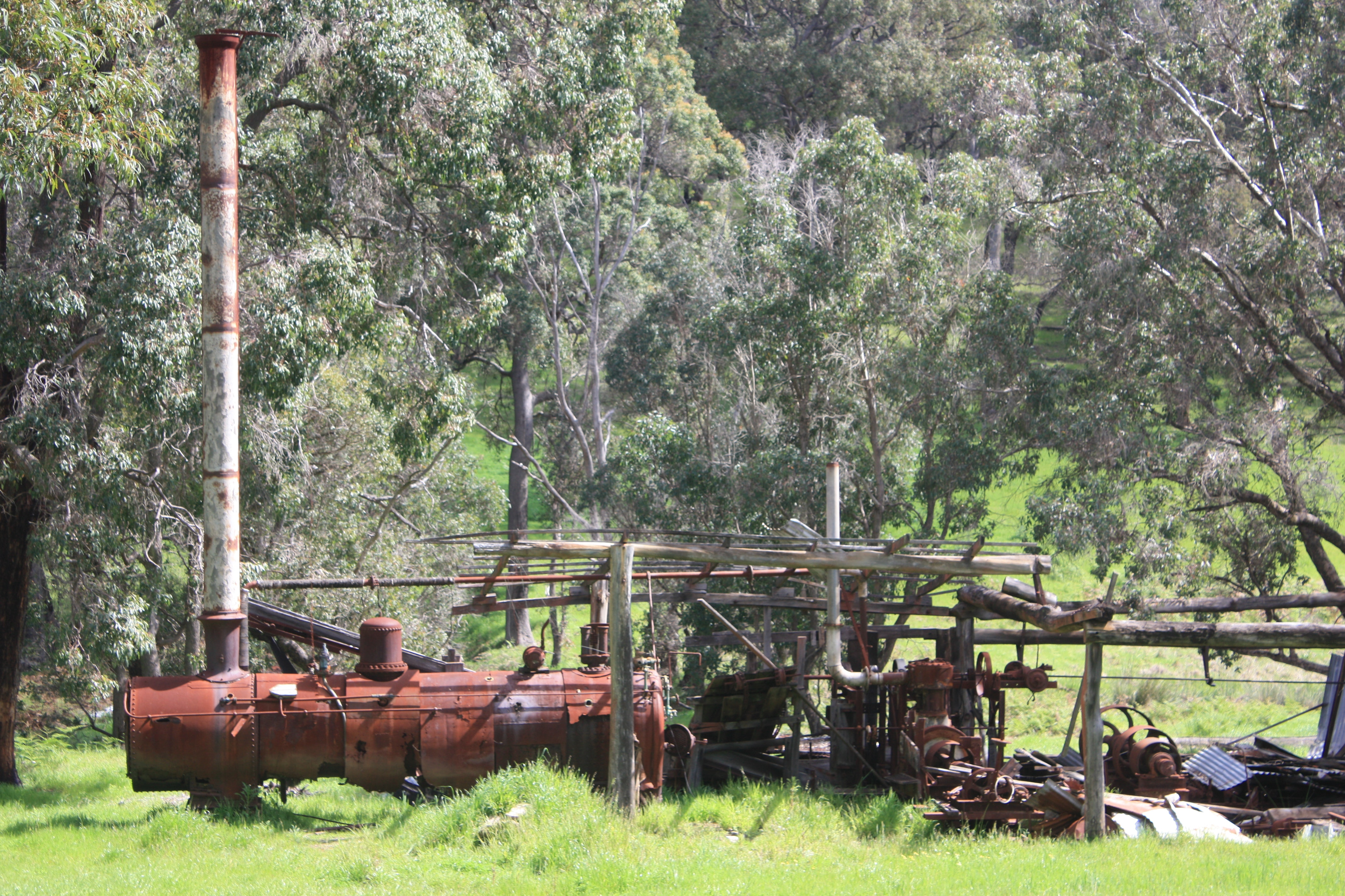 Old steam powered mill near Kirup
