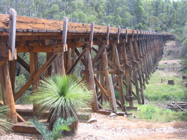 Long Gully Bridge- destroyed in 2015 fires