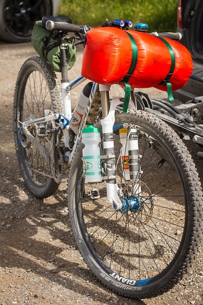 Modern bike packing set up