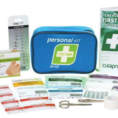 Cycle specific first aid kit available in our shop
