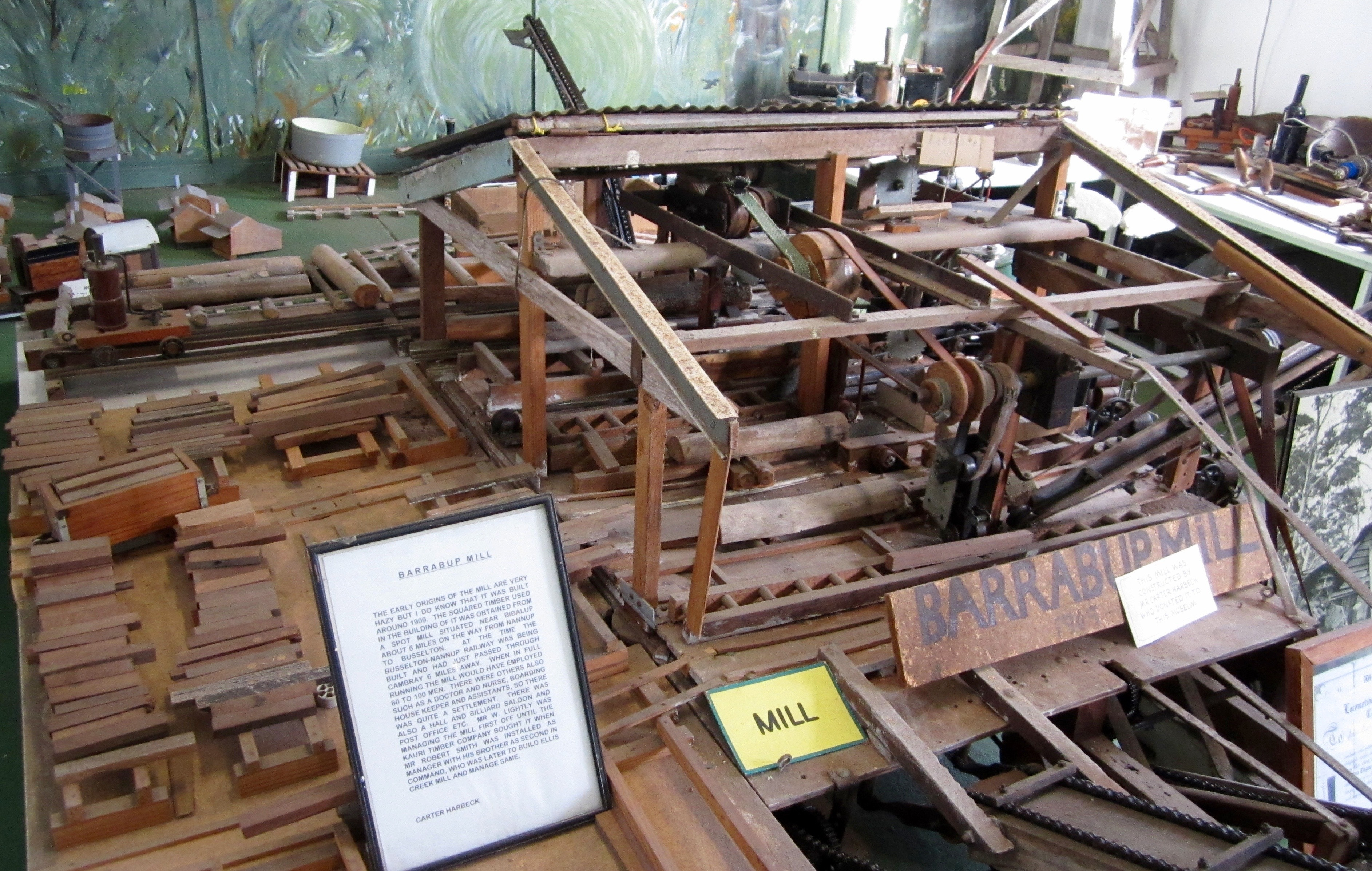 Model of Barrabup Mill at Busselton museum