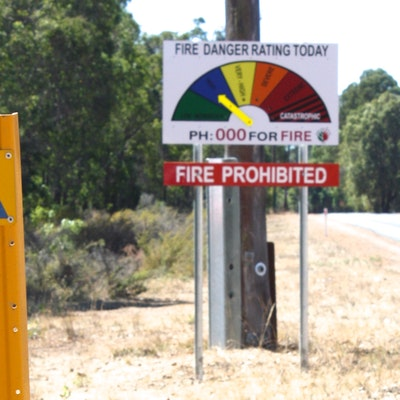 Fire warning near Collie
