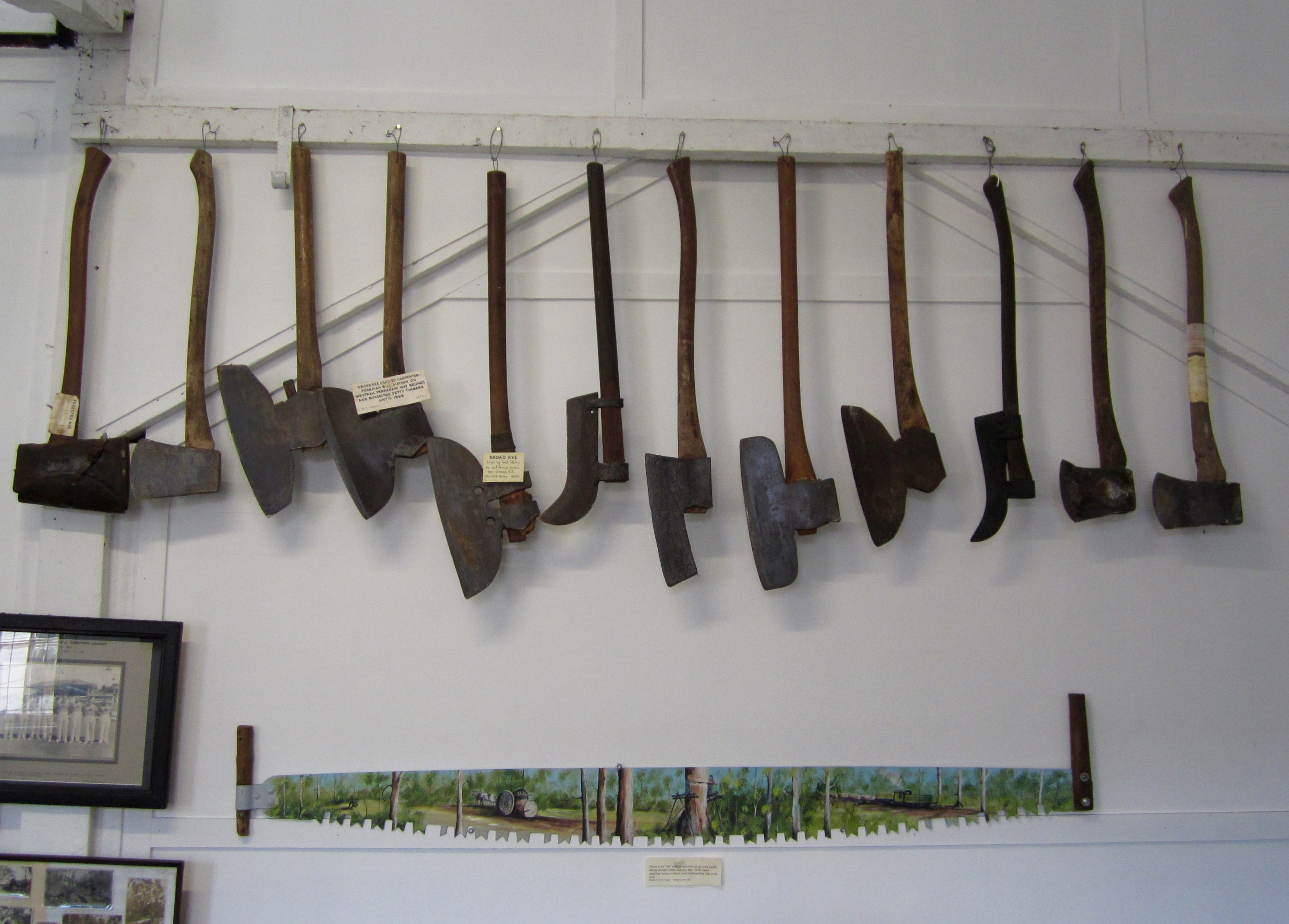 Axe collection Busselton Museum
