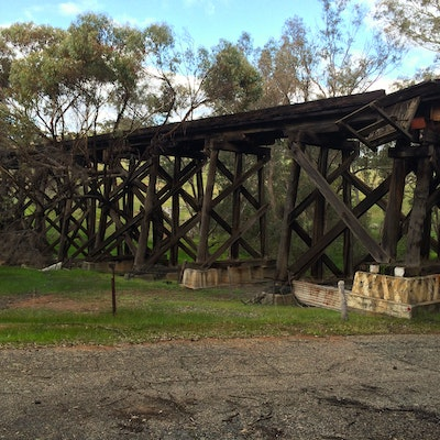 Wooden Rail Bridge - Toodyay