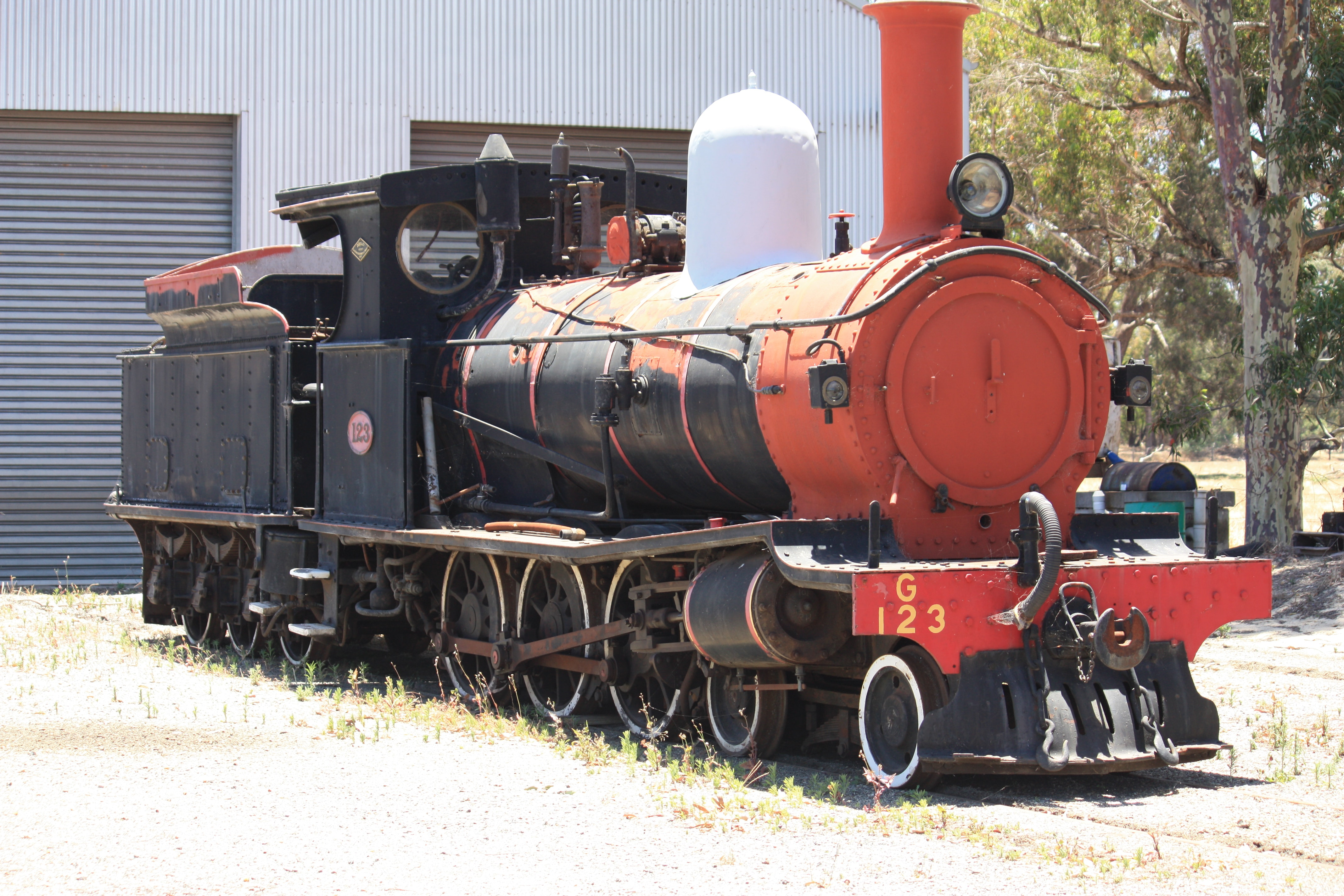 G123 at Hotham Valley Railway, Pinjarra