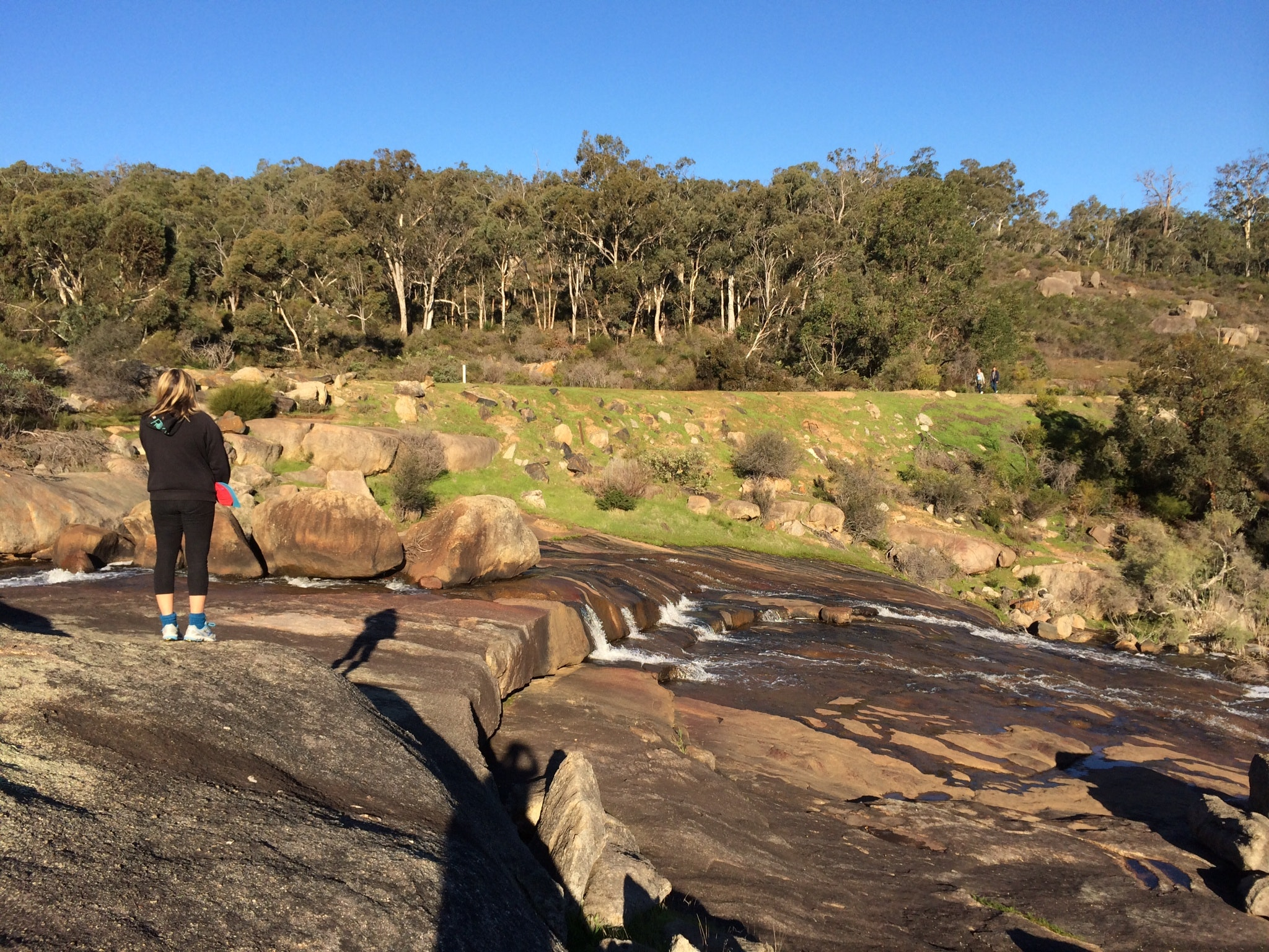 Hovea Falls with Rail trail in back ground