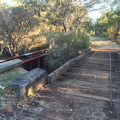 Old rail bridge before being refurbished John Forrest National Park
