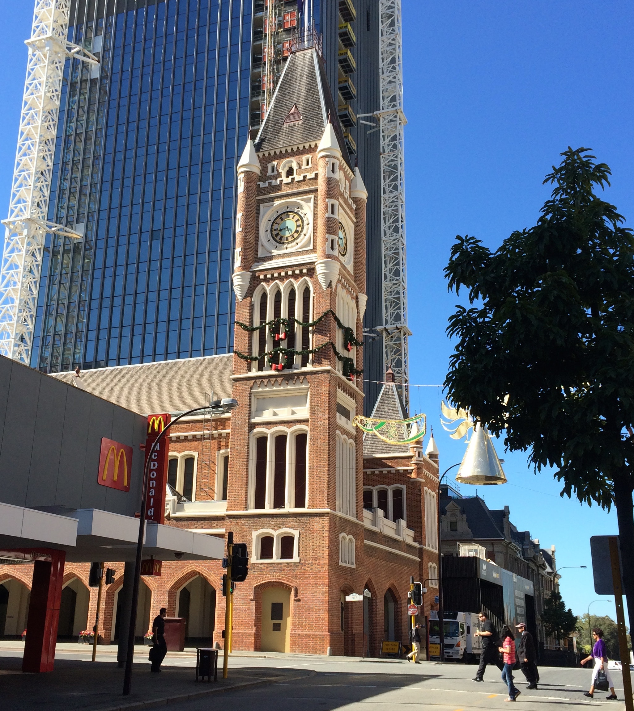 Perth Town Hall, built by convicts