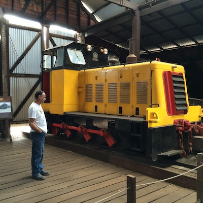 Diesel train at Yarloop Workshops