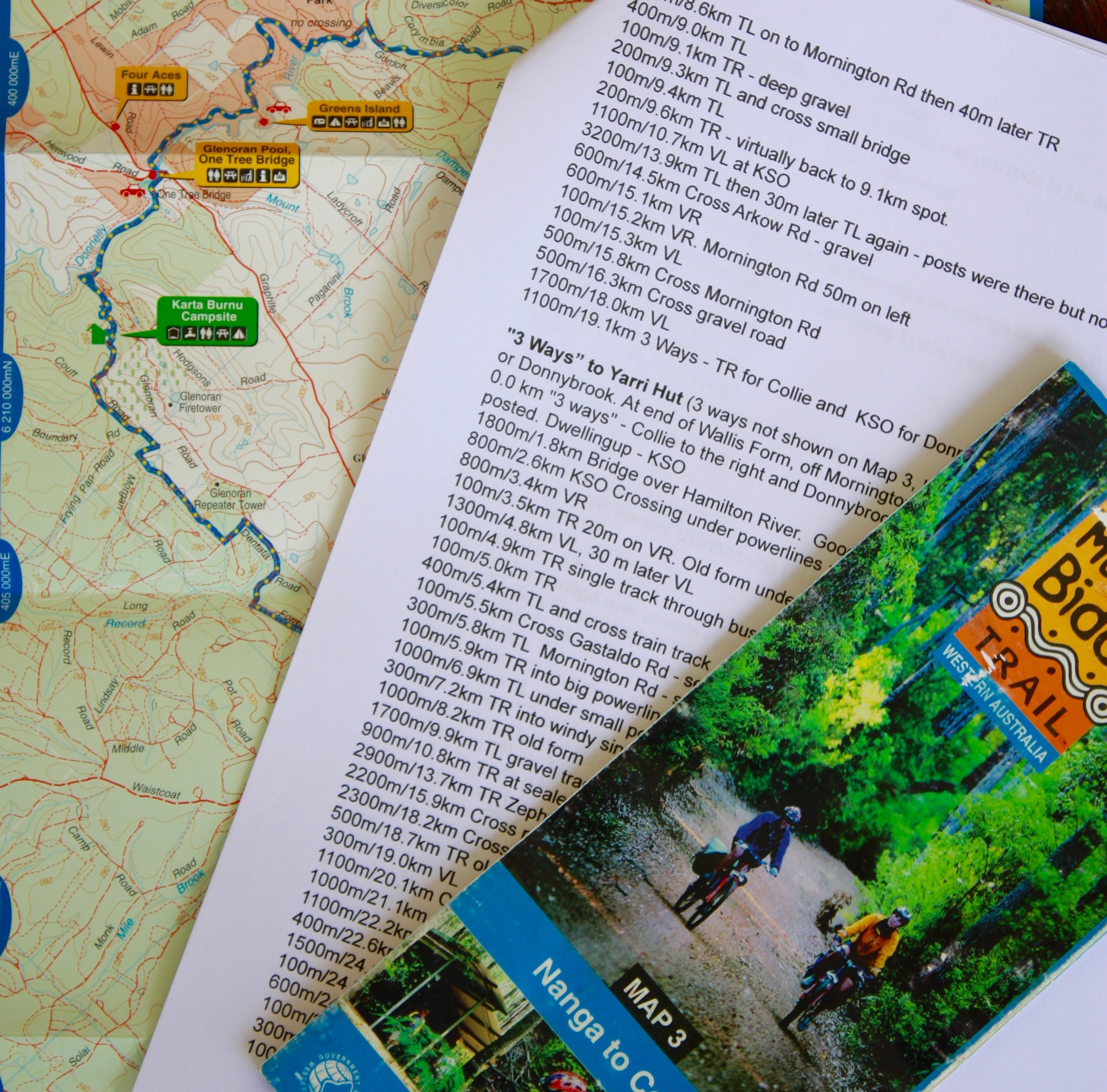 Use route sheet summaries in conjunction with the official maps
