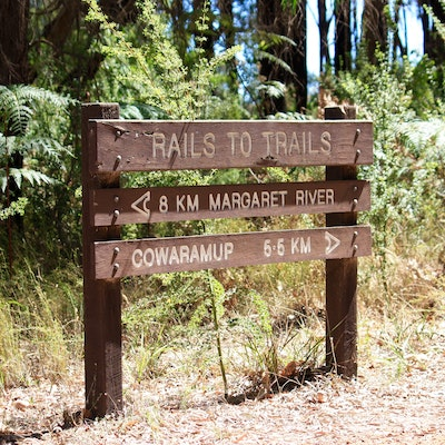 Rails to Trails sign