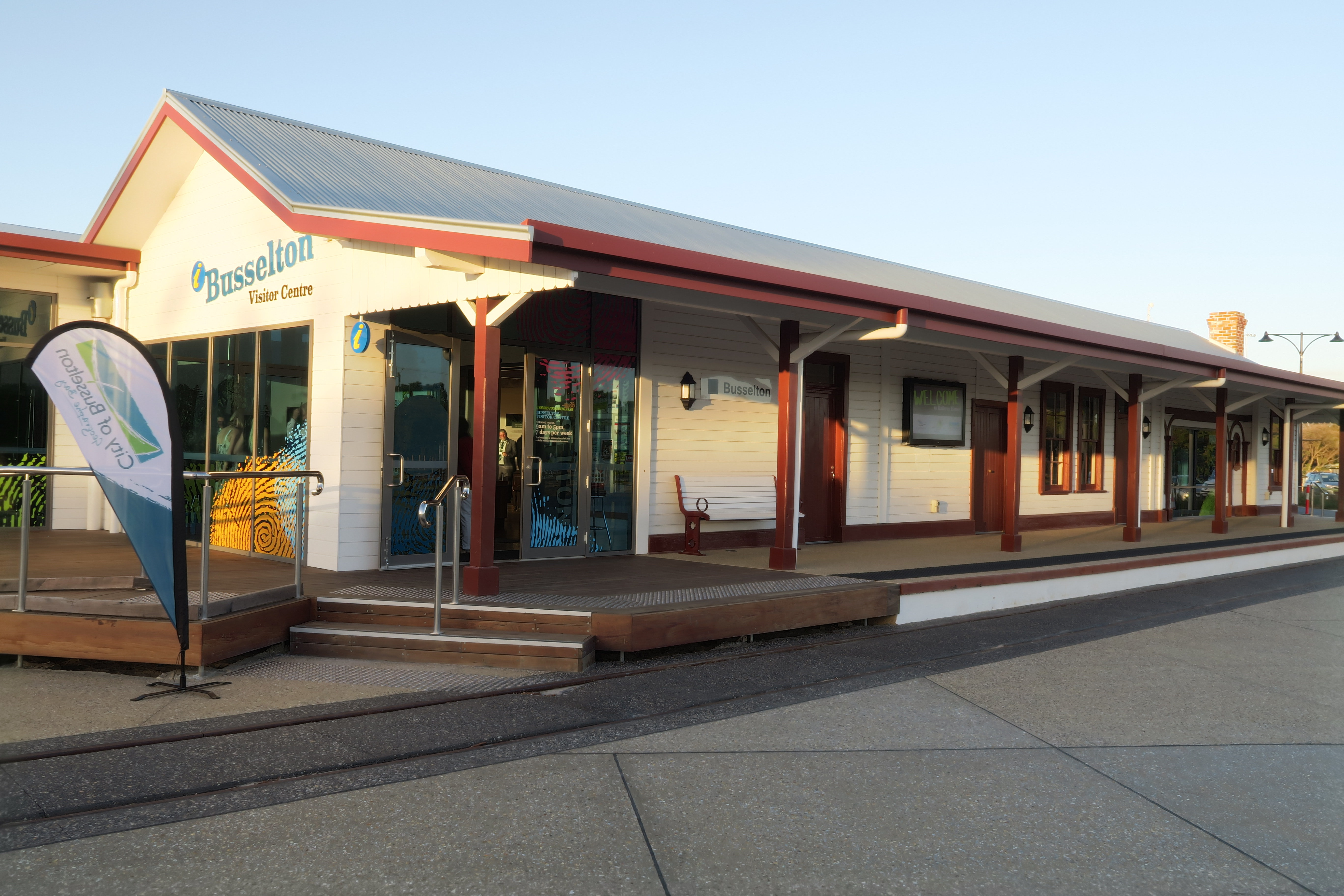 Busselton Rail station, now the visitor's centre