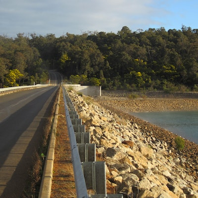Waroona Dam on Lake Navarino