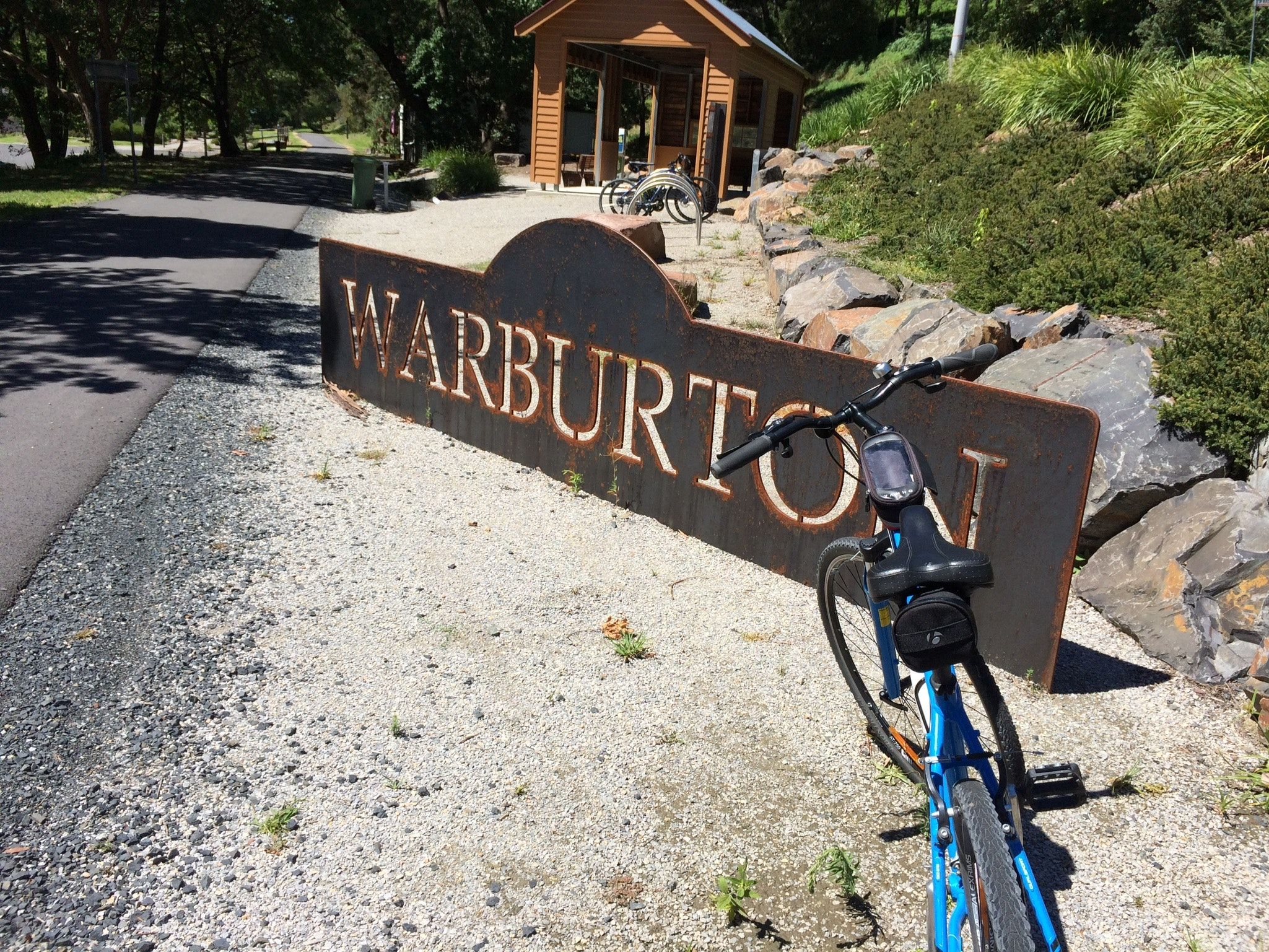 Entering Warburton