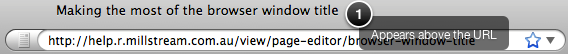 Browser Window Title above URL