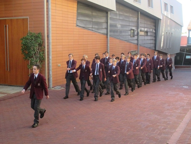 Year 10 marching