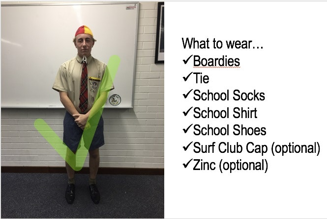 boardies day uniform