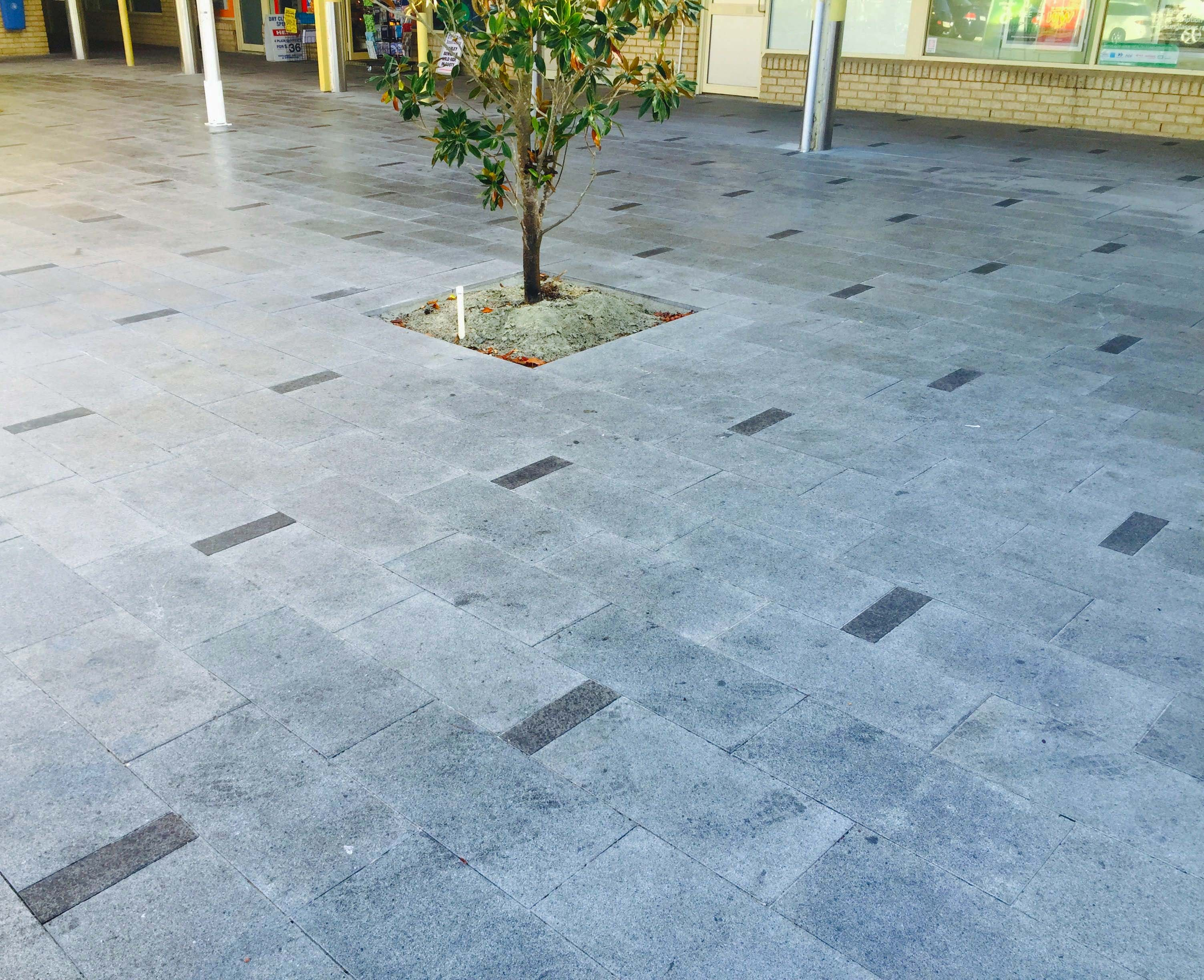 Winthrop Shopping Centre - Silver Grey and Black Granite