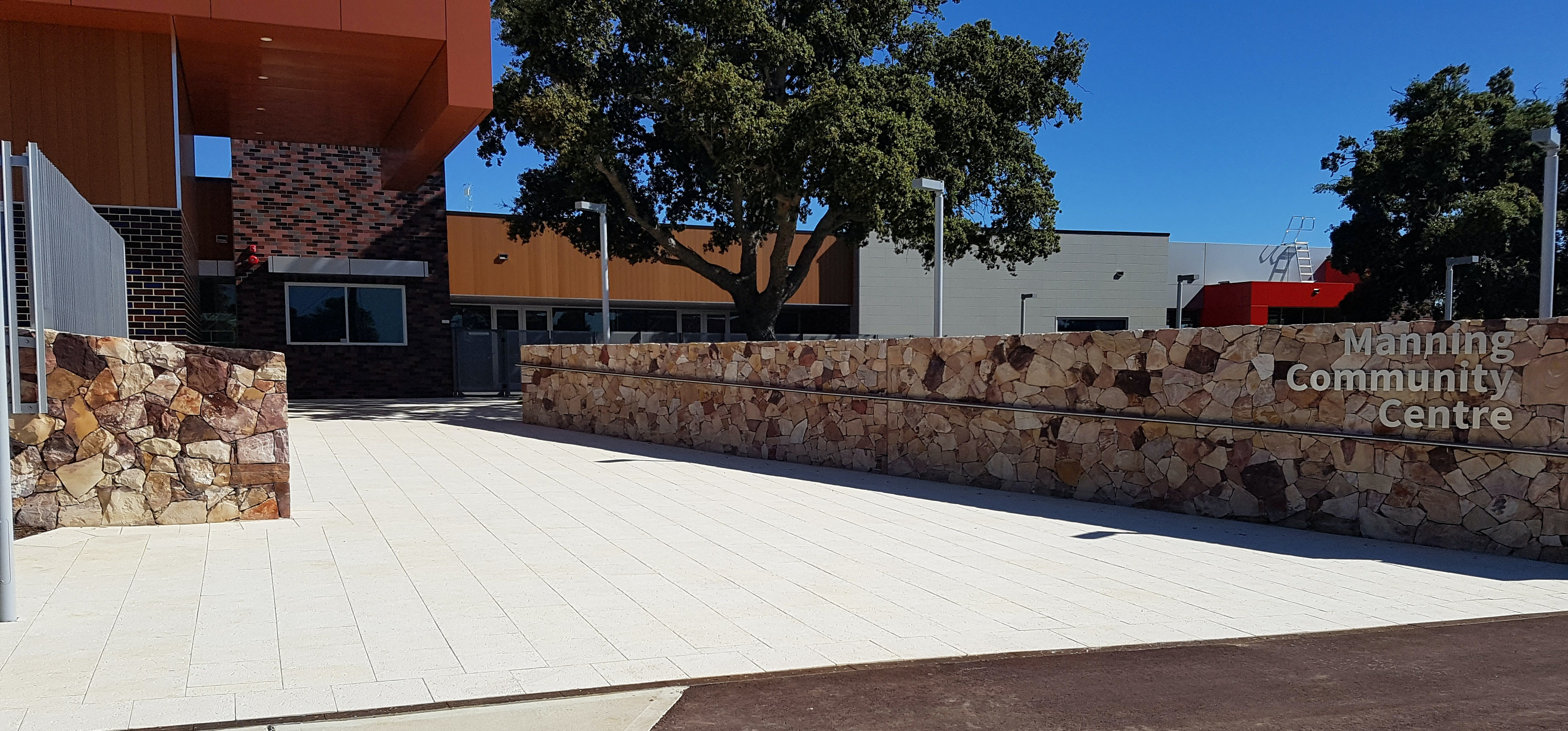 Manning Community Hub - Ice Coral Pavers
