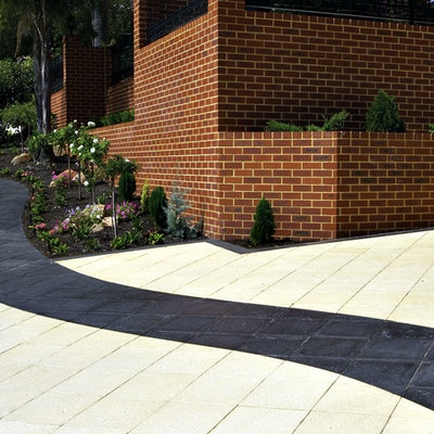 Ice Coral, Charcoal Coral Pavers