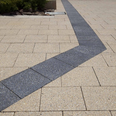 Sandstone and Charcoal Quartz Pavers