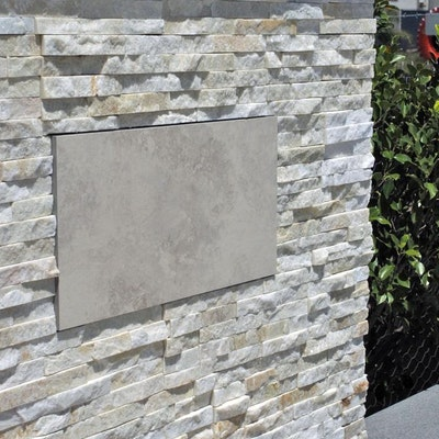 White Quartz Natural Stone Feature wall Perth