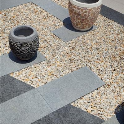 Silver Granite, Black Granite Pavers