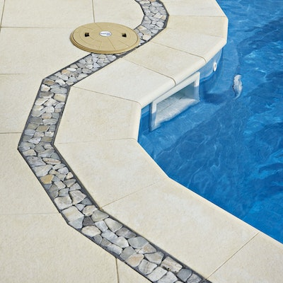 Ice Ridge Pavers & Riverstone Borders