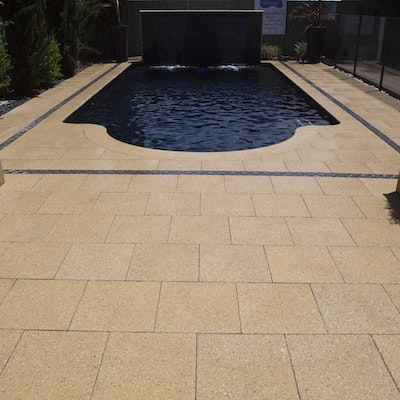 Sandstone Quartz Pool Paving