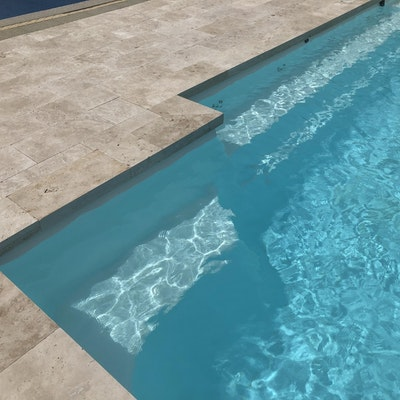 Roma Rectangle Pavers with Over Hanging Lip Capping