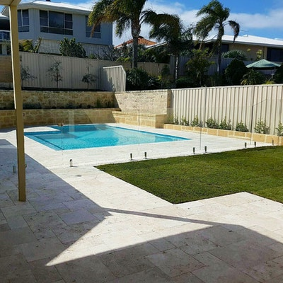 Roma Travertine French Pattern Pavers & Capping