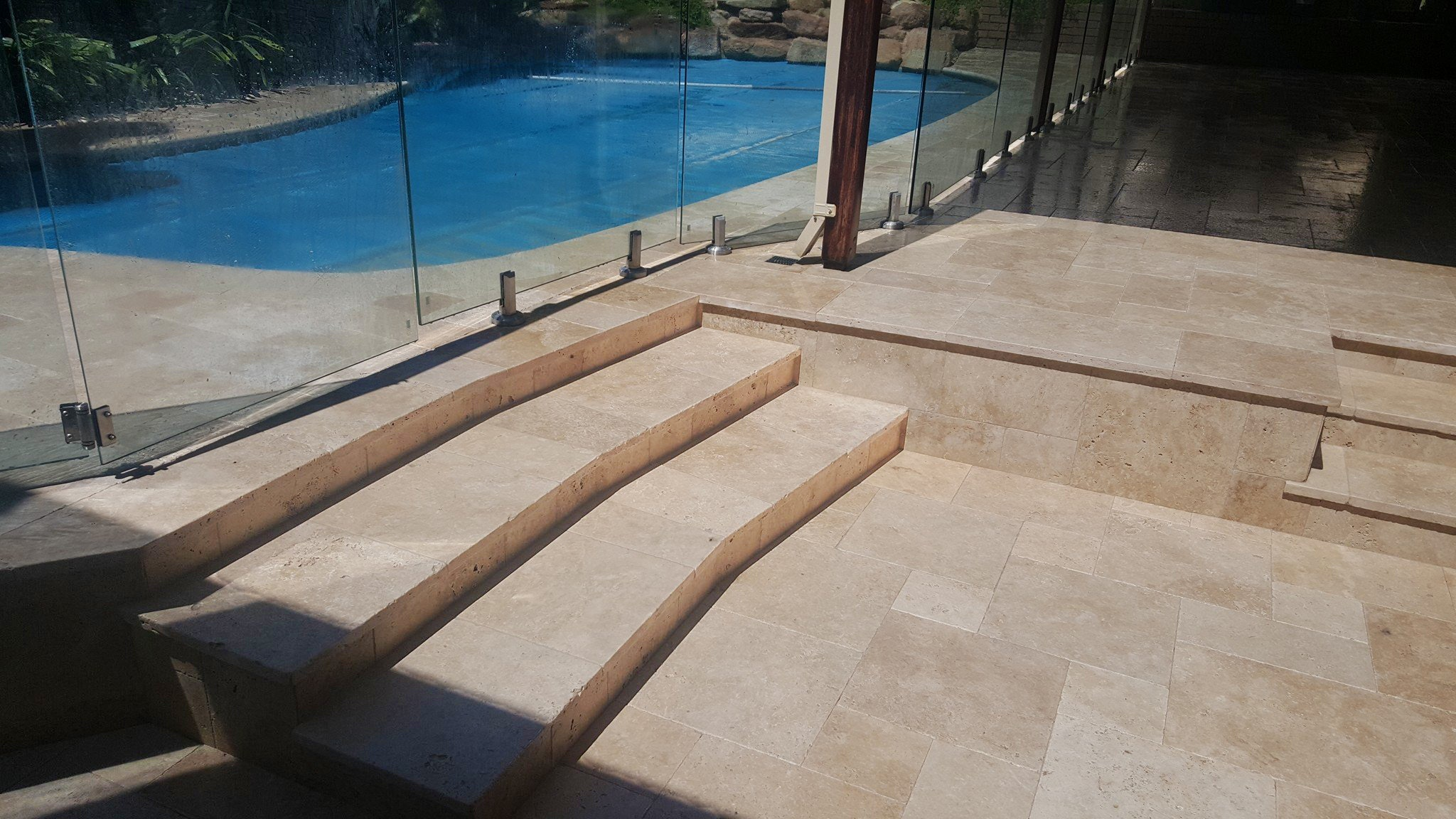 Roma Travertine French Pattern Paving and Capping