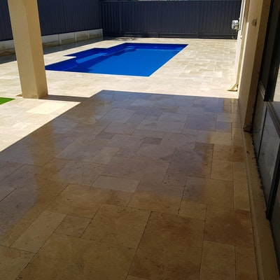 Cappuccino Travertine Pavers