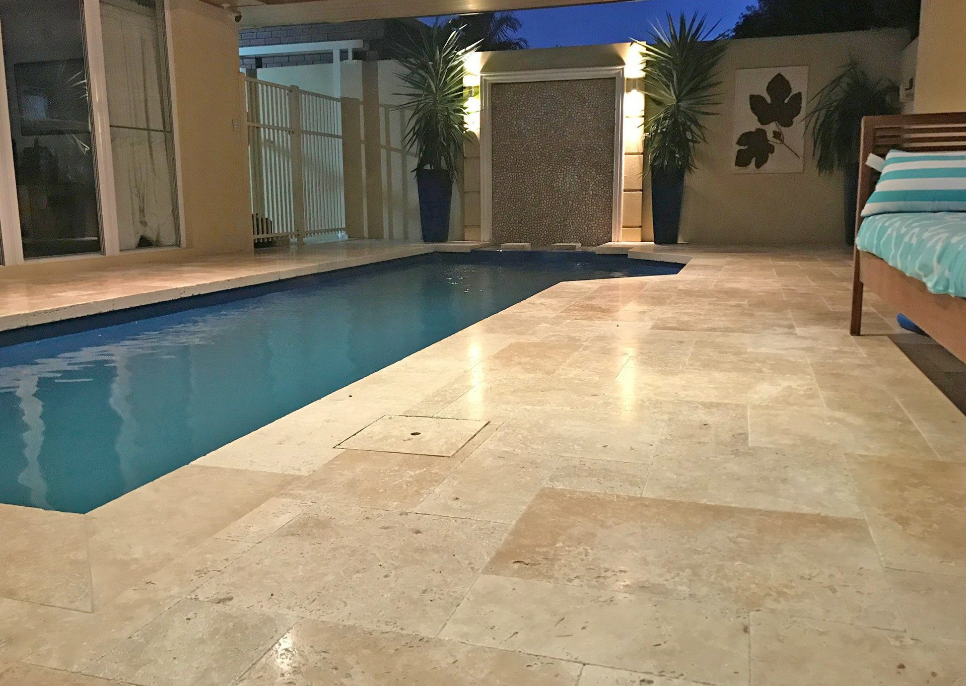 Roma Travertine French Pattern Pool Pavers